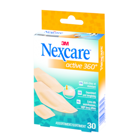 Pansement support mousse antichoc hypoallergénique Nexcare™ Active™ 360°*
