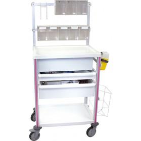Guéridon aménageable Agily® 600 x 400 Tablettes à rebords